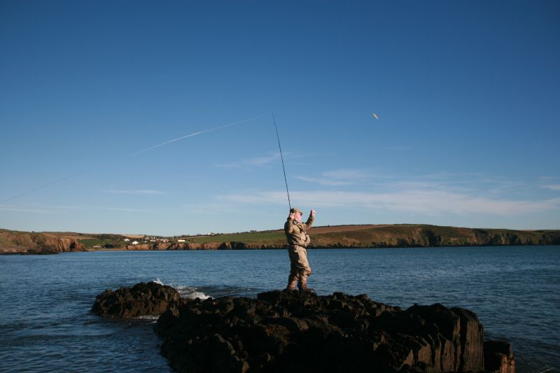 bass angling, Cork. Irish bass fishing, targeting bass in ...